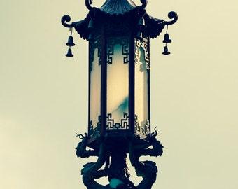 "San Francisco Photography - black chinese lantern chinatown neutral city photography san francisco wall decor 8x10 11x14 5x7 urban  ""Luster"""