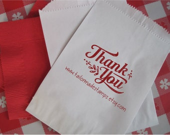 Thank You Rubber Stamp, Custom Business Stamp, Web Address, Shopping Bag Stamp, TYSharon