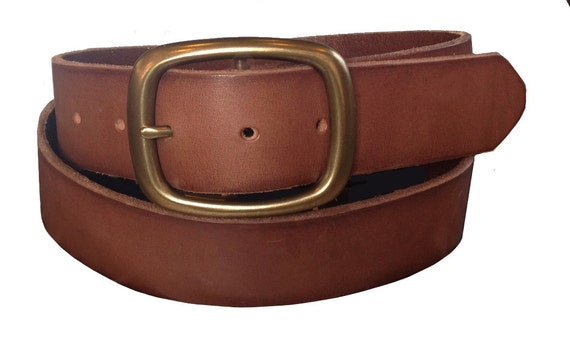 brown heavy duty leather belt size s 32 by