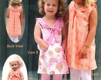 Pattern - Charmed - Dress & Doll dress Paper Sewing Pattern by Olive Ann Designs (OAD92)