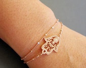 Hamsa Hand Bracelet, Layered Bracelet, Protection bracelet, Dainty jewelry, Hamsa Hand jewelry, celebrity inspired jewelry