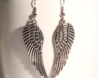 Large wings earrings