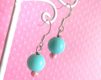 Pastel Fairy Kei Bead Earrings - Girls and Teens Kawaii Sweet Lolita Decora Jewelry