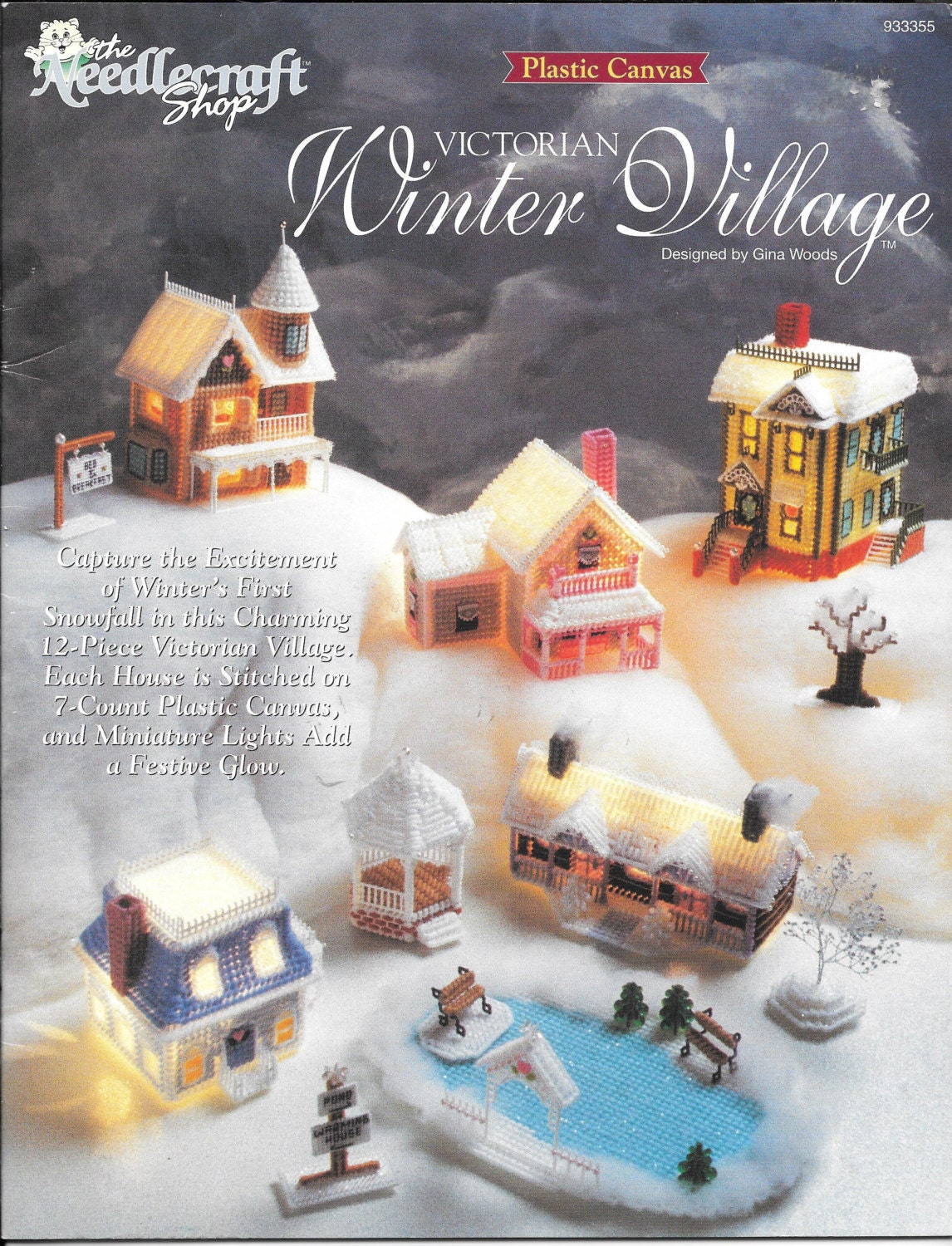 The Needlecraft Shop Victorian Winter Village Plastic Canvas