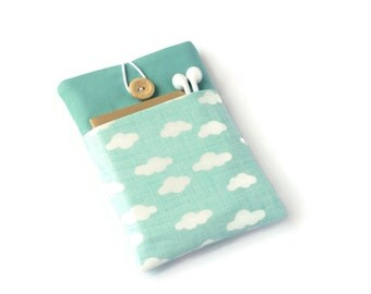 Kindle Cover, Kindle Oasis Sleeve, Kindle Voyage Case with Pocket for Paperwhite Ereaders and Tablets - Aqua Clouds