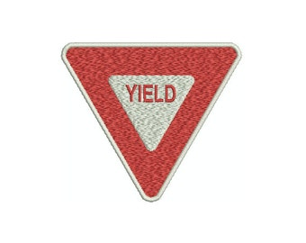 Machine Embroidery Design Instant Download - Yield Sign