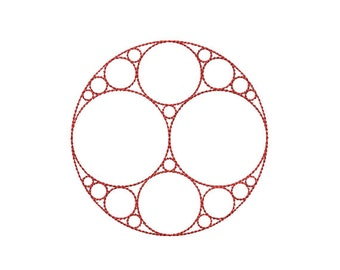 Machine Embroidery Design Instant Download - Apollonian Gasket 1 Quilting Redwork