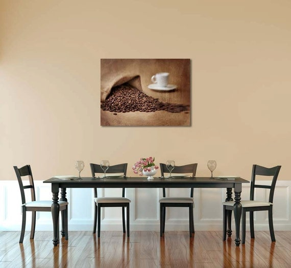 Coffee Kitchen Decor Kitchen Wall Decor Dining Room Decor Brown