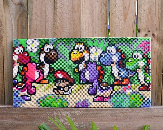 Yoshi S Island Perler Bead Wall Art By Mandogdesigns On Etsy