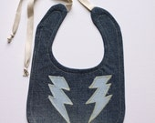 Denim Bib with Lightning Bolt