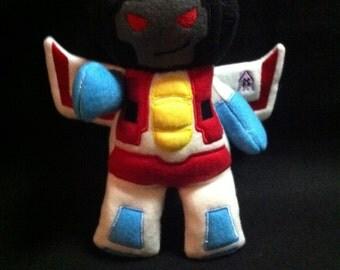 Transformers  Plush Plushie BittyBot Starscream Toy from Mythfits