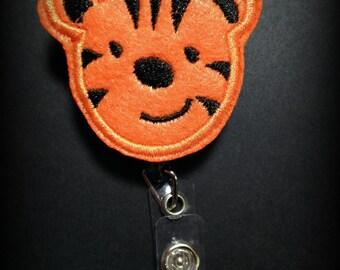 Tiger Badge Reel- Auburn Badge Clip- ID Badge- ID Holder- Nursing