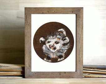 Baby Animal Art Print - possum art print, giclee art print, animal art, possum painting