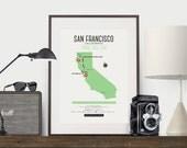 Zombie Safe Zone San Francisco Map Poster - San Francisco City Map