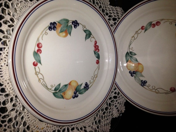 Vintage 1980s Corelle Dinner Plates By Corning From The