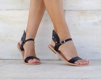 Leather Greek Sandals, Leather sandals, Women's Ermes Wings sandals. CUSTOM  COLOURS