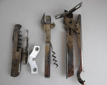 Vintage/Antique Distressed Set of 4 -Can Openers