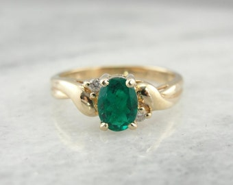 Vintage Emerald And Diamond Ring XQLZ2D-P