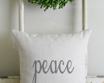 Peace 20 x 20 Pillow Cover_holiday, Christmas, home decor, throw pillow, cushion, gift, present_