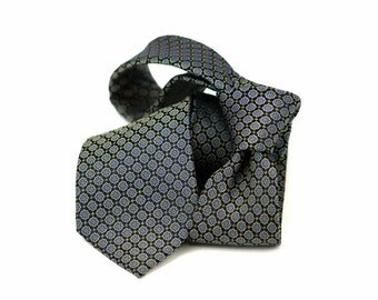 Tie (3 inch) in Floral in Blue, Yellow, Black (also available in pocket squares)