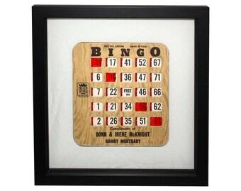 ON SALE  Framed Slider Bingo Card