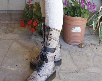Leg Warmers Ivory Socks  Boot Socks Knit Socks Over Knee Socks - Legwarmers boot socks Cuff Socks