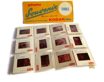 Italian Souvenir. Photographic Souvenir Slides . Tivoli , Italy . Color Dia Slides .  Kodak Negative Film .