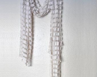 Tea-Dyed Stripes Scarf