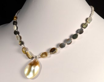 Delicate, Feminine, Polished Shell Womens Necklace