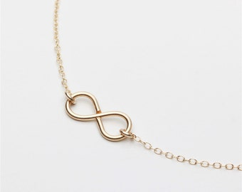 Handmade 14k gold filled Infinity charm - 14k gold filled infinity necklace - everyday simple jewelry