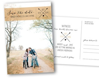 Save the Date Postcard {Arrow}