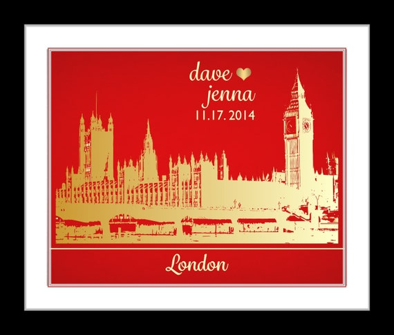 ... Gifts London Skyline Poster Unique Wedding Gift Ideas Bridal Shower