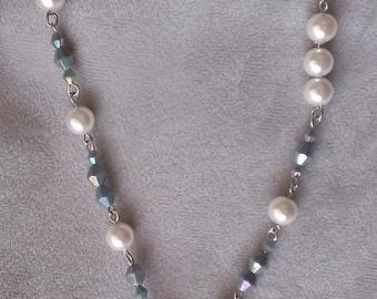 Crystal Heart Necklace set