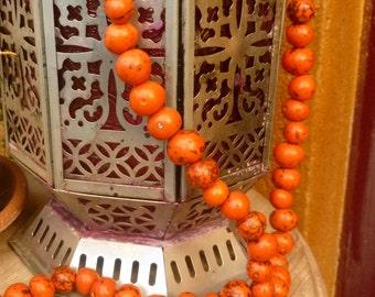 Tangelo Orange Bombona Seeds. Natural Palm Seeds. 35 pcs. 15-18mm. Ethnic Jewelry Seeds. Crafts seeds