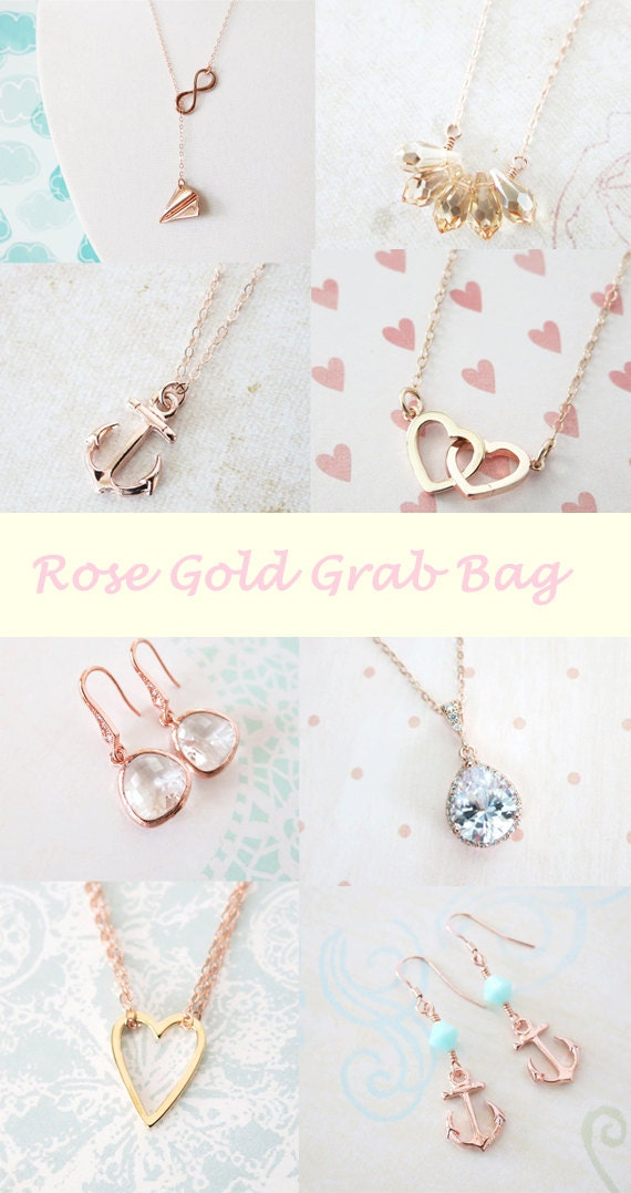 Rose Gold Grab Bag - Surprise Grab Bag, Gift bags For adventurous customers - USD 50