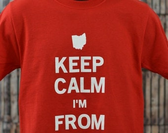 Keep Calm I'm From Cleveland Tee (In Red)