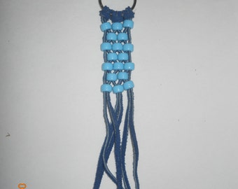 Leather and beaded keychains