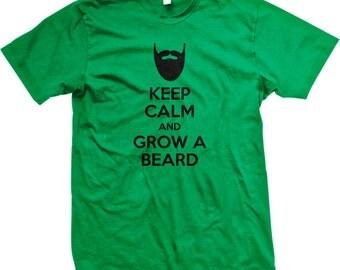 KEEP CALM and Grow a BEARD !! - Manly Man - GH_01423_tee