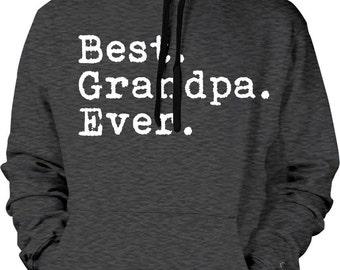 Best. Grandpa. Ever! #1 GRANDPA, Best Grandpa Ever, Grandfather's Day Men's Hoodie, Father's Day Sweatshirt, Grandpa Hood GH_01286_2tonehood