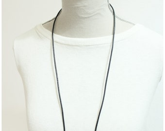 natural wood necklace handpainted
