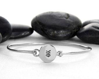 Arrow, Arrow Bracelet, Chevron, Geometric Jewelry, Gift For Her, Silver Chevron, Geometric, Chevron Bracelet, Modern Jewelry, b248ss