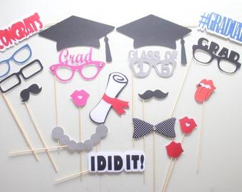 19pc *Graduation Photobooth Props/ Grad Photobooth Props