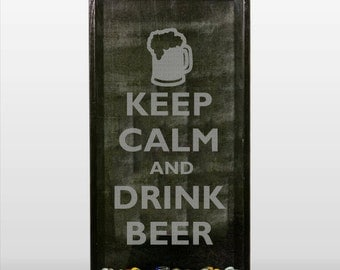 Keep Calm and Drink Beer - Vinyl Sticker Decal / Sticker - CORNHOLE, shadow boxes, wall, window