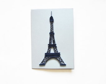 The Eiffel Tower Card, Quilled Eiffel Tower, Paris Card, French gift, Valentine's day, Valentine card