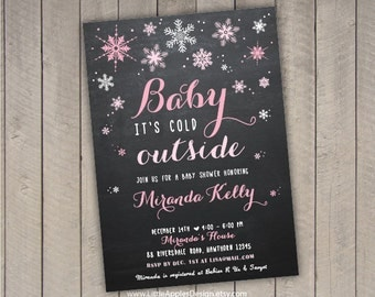 Amazing Winter Wonderland Invitation / Winter Baby Shower Invitation / Winter Baby  Invite / Winter Wonderland Baby