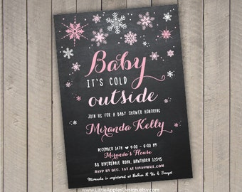 winter wonderland invitation / winter baby shower invitation / winter baby invite / winter wonderland baby shower invitation /