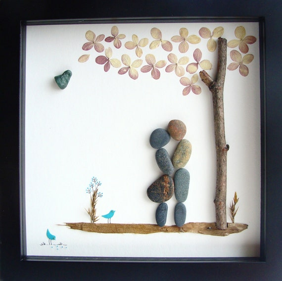 ... Original COUPLES Gifts - Pebble Art - Love Gifts- Unique Wedding Gift