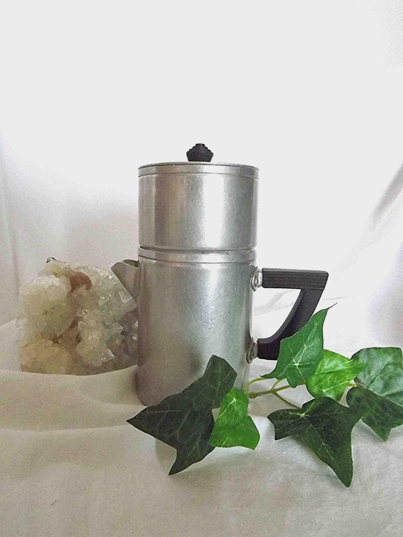 Old Drip Coffee Maker : Vintage Coffee Pot Drip Coffee Maker Aluminum by NanisGarden