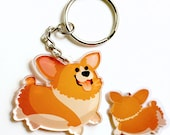 Cute Corgi Keychain, kawaii Phone Charm, dog lovers, pembroke welsh corgi, cardigan welsh corgi, corgis,