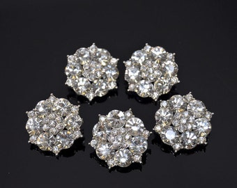 5Pcs Rhinestone Button, crystal button, metal button, glass button for brooch bouquet, hair pieces, Embellishment Button, invitations-RNK145